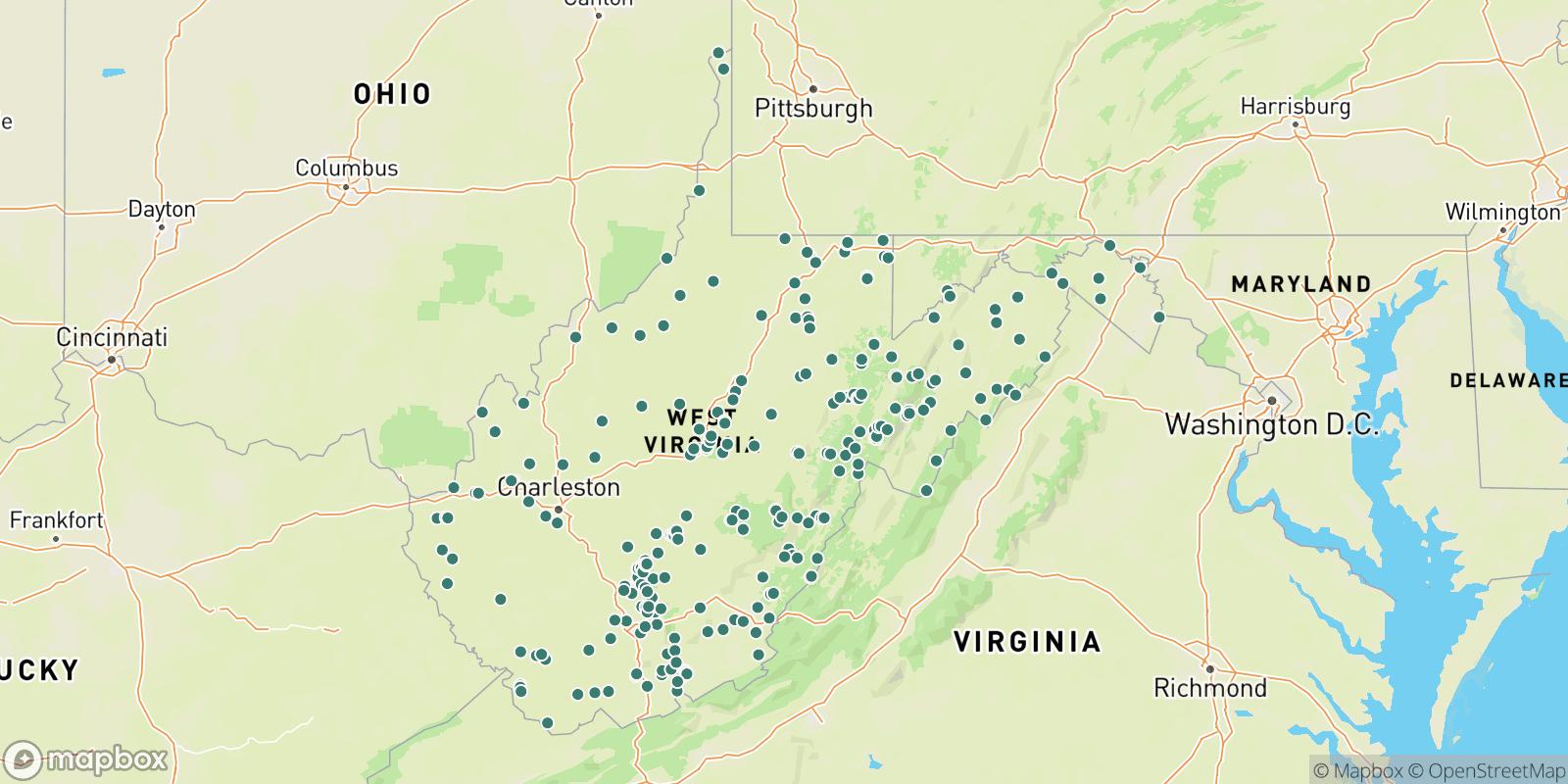 The best camping near West Virginia, West Virginia